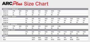 ArcPlus Size Chart 2