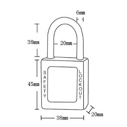 Volt Safety Padlock Specs